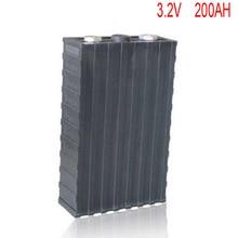 4 шт./лот перезаряжаемые 3,2 В 200Ah литий ионный LiFePO4 батарея модель батареи для EV/UPS/BMS/мощность хранения/солнечный мощность системы