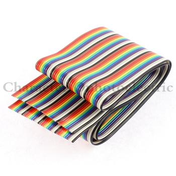1 M 2 M 5 M 10 M 40 pin płaski kolor Rainbow wstążka IDC przewód do kabla Rainbow kabel tanie i dobre opinie