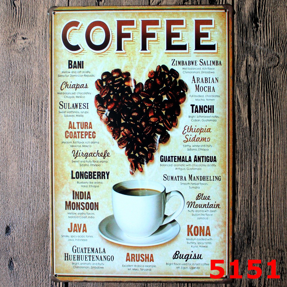 Plaque Metal Tin Signs Vintage Decorative Coffee Plates Cafe Menu Shop Pub Bar Home Wall Decor COFFEE Can Sleep When You\u0027re Dead-in Plaques \u0026 Signs from ... & Plaque Metal Tin Signs Vintage Decorative Coffee Plates Cafe Menu ...