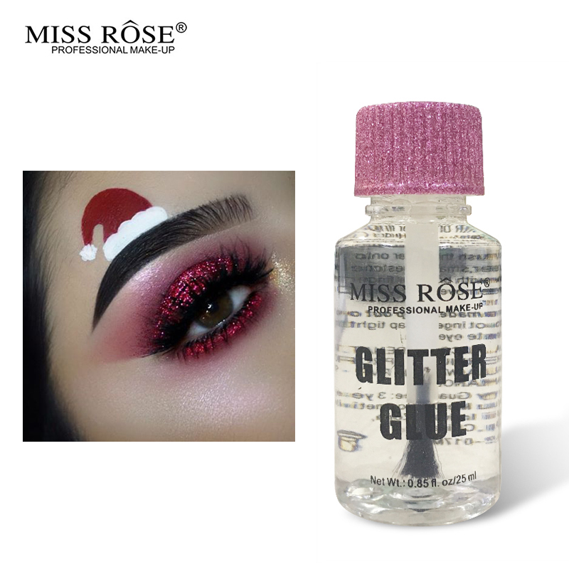 Miss Rose Glitter Eye Fix Gel Base Make Up Liquid Face Primer Waterproof Long Lasting Loose Powder Pigment Finish Makeup Glue image