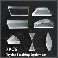 7 Pcs Lot High Quality Optical Prisms Experimental Apparatus For Teaching Basic Principle Of Light Education
