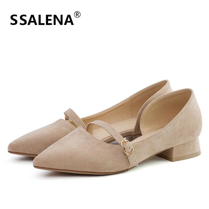 Femme doux bout pointu pompes femmes sans lacet confortable boucle unique chaussures femme talon carré troupeau robe de mariée chaussures AA51651