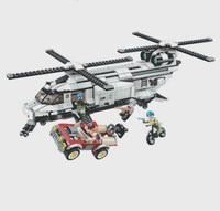 Illuminate Military Legoe Education Building Blocks Toy Stacking Tank War Panzer Helicopter Chinook Car Vehicle Weapon Force Uni