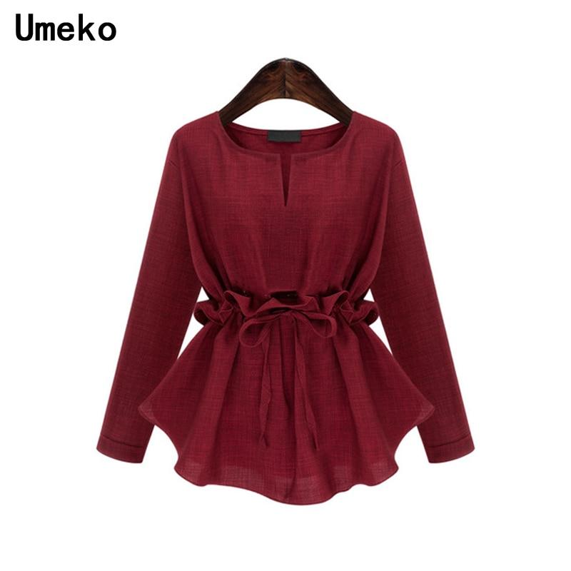 Plus Cuello Sólido Jersey Mujeres jh Camisas De Ropa Tamaño Blusa na Redondo Hs Manga Damas Blousees Y Color Tops Larga Túnica nZqzpxC0wq