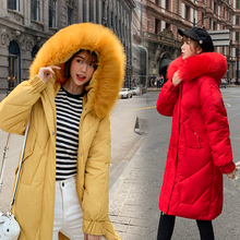 Fake Fur Collar Winter Female Jacket New 2019 Fashion Coat Women Slim Parka Warm Hooded