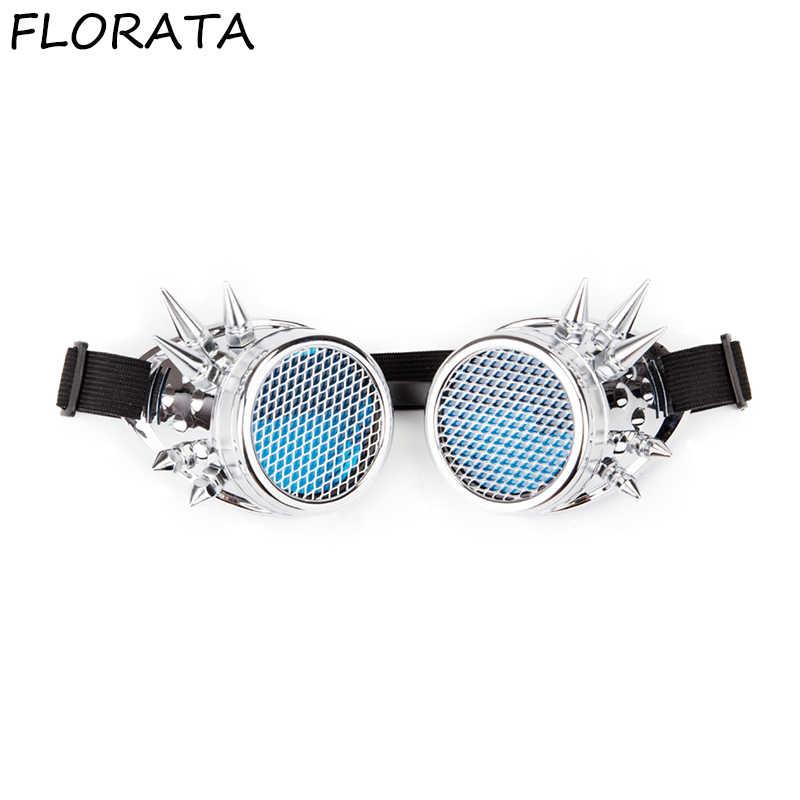 c16bd5319cd ... FLORATA Hot Retro Unisex Goggles Steampunk Glasses Welding Cosplay  Sunglasses Vintage Victorian Eyewear Barbed Frames ...