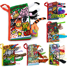 Jollybaby Soft Multiple textures Cloth Books Animal Tails Crinkle Covers Educational Infant Baby Toys 1pc baby educational learning toys infant cloth book cartoon animal pattern baby soft activity crinkle cloth books 1