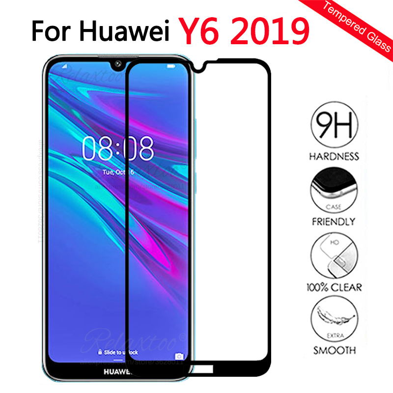 For Huawei Y6 2019 Glass Screen Protector Tempered Glass For Huawei Y6 prime 2019 Y 6 2019 Protective Glas full cover touch Film