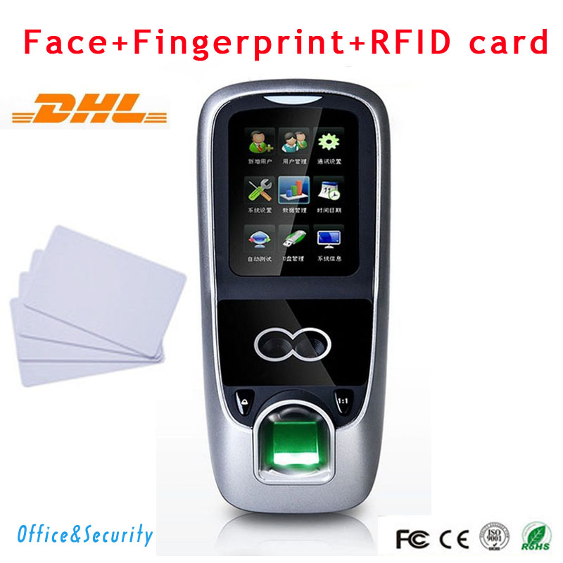 DHL Facial +Fingerprint+RFID card+Password recognition time clock attendance Access Control Terminal MultiBio 700/Iface7 zksoftware iface7 multibio 700 facial