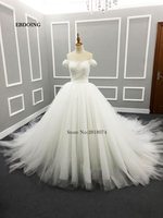 Real Photo 2017 Robe De Mariage Wedding Dress Ball Gown V Neck Custom Made Vestidos De