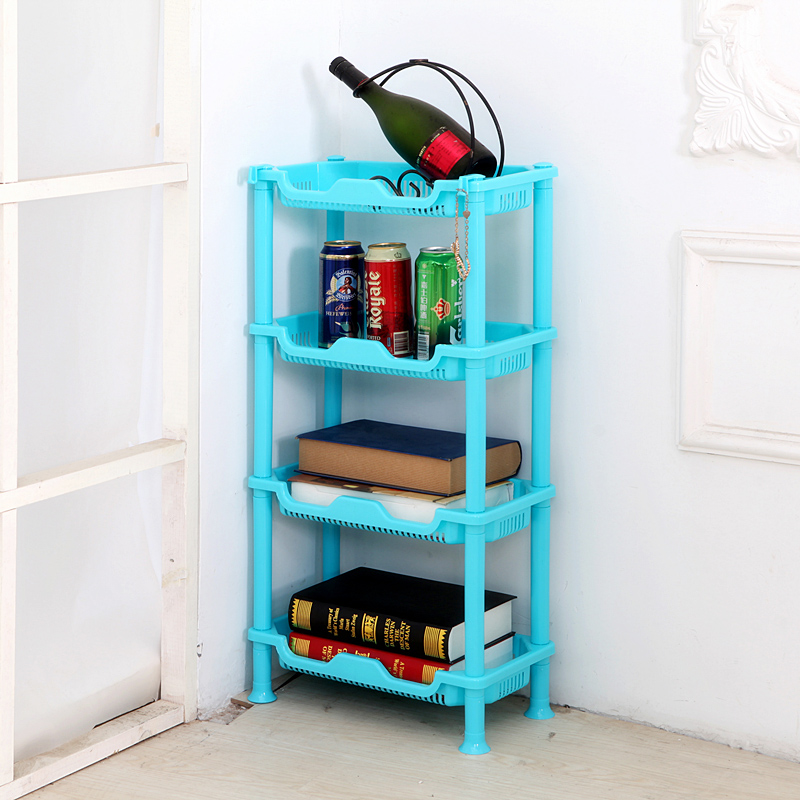 050 Multipurpose Shelf Kitchen Storage Rack Shelf square kitchen and toilet four layers receiver rack 40 21 79cm in Racks Holders from Home Garden