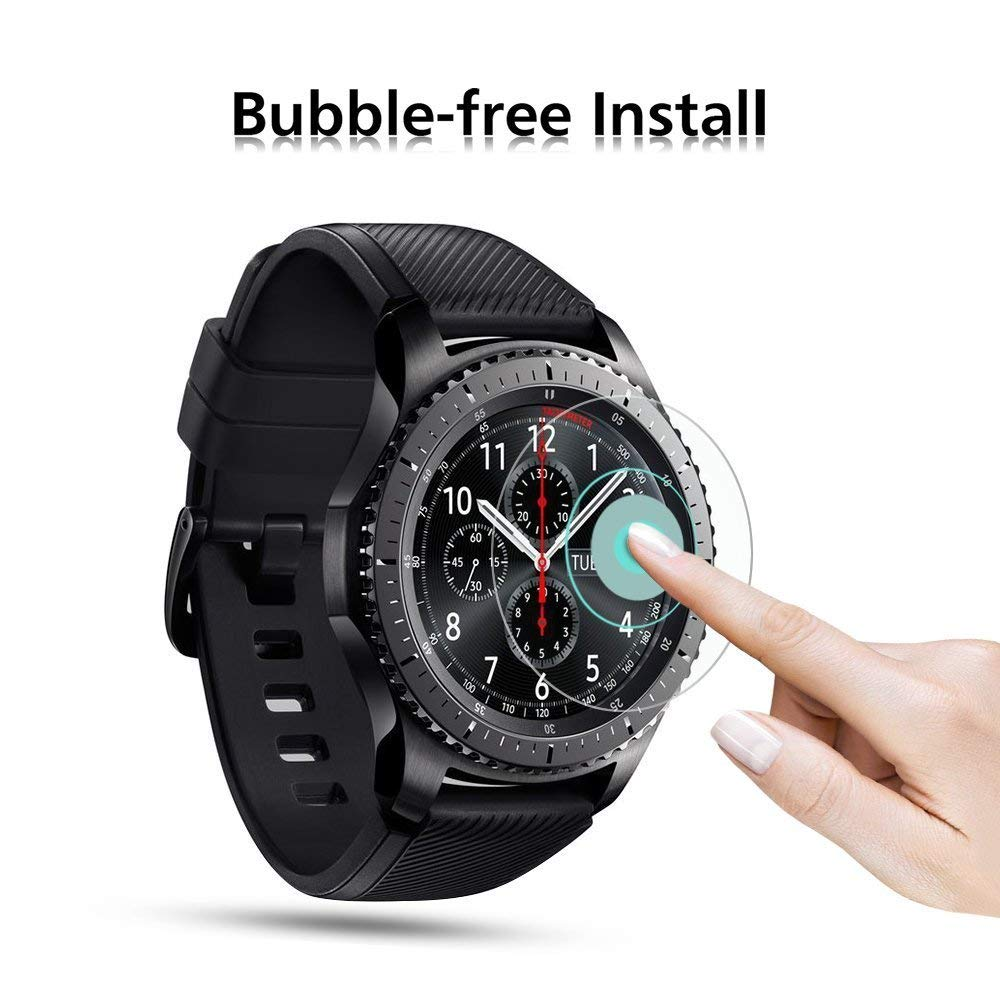 screen protective film for samsung gear S3 tempered glass screen gear S3/S2 [0.3mm 2.5D high definition 9H] smart watch