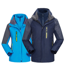 Men Womens Outdoor Jackets pair of three-in-one thermal stormwear Male waterproof two-piece set Camping Thick winter Cloth 445