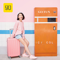 Xiaomi 90FUN Special Version Pink/Green Rolling Luggage PC Suitcase Women Trolley Bag Travelling Luggage with Wheels Spinners