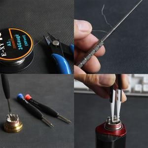 Image 2 - E XY Electronic Cigarette DIY Tool Kit Coil jig Tweezers Pliers for RDA RDTA RTA E Cig Accessories Vape   Bag Coiling Kit