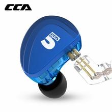 CCA A10 5BA jednostki napędowe w uchu słuchawki 5 zbalansowana armatura monitorowanie HIFI słuchawki douszne z odłączanym odłączanym kablem 2PIN