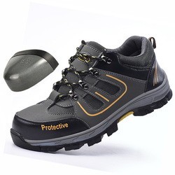 Sobrevivência na selva Sapatos de Segurança de Aço Do Dedo Do Pé de Aço Mid-plate Anti-slip Anti-esmagamento sapatos de Trabalho Dos Homens Botas de Trabalho botas de Segurança do trabalho Dos Homens