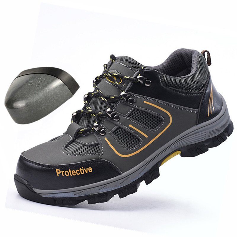 Wilderness Survival Safety Shoes Steel Toe Steel Mid-plate Anti-slip Anti-smashing Work Men Work Boots Work Safety Boots Men
