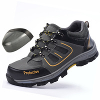 Wilderness Survival Safety Shoes Steel Toe Steel Mid plate Anti slip Anti smashing Work Men Work Boots Work Safety Boots Men
