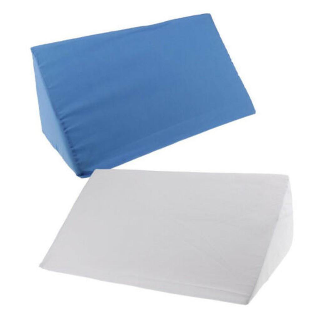 Bed Wedge Acid Reflux Pillow Elevating Leg Rest Back Lumbar Support Pillow Cushions Side Sleep Pillow Blue White#3