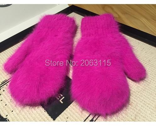 Vison cachemire gants Hommes et les femmes en général Double couche épaississement livraison gratuite J056