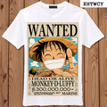 2017 New funny tee  t shirts ONE PIECE Luffy Tshirt Anime Clothes Summer Casual Personality Fashion men t-shirts