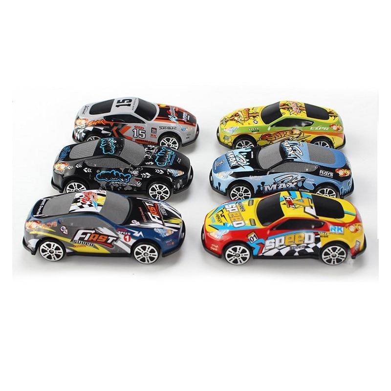 6 шт. Набор игрушечных гоночных автомобилей из сплава, железная оболочка, модель такси, инерционная раздвижная рельсовая машина, мини маленький подарок, игрушки для детей, мальчиков - Цвет: Color Random