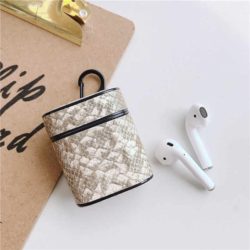 Headphone box Case Wireless Bluetooth Headset Set Charging Box Leather Earphone Cover Headset Bag for Airpods