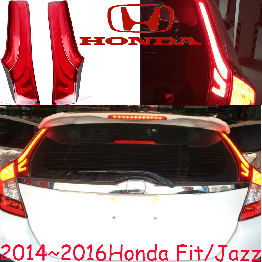 car-styling,Fit Jazz Taillight,2014~2016,car covers,Free ship!2pcs,Fit Jazz fog light;Fit Jazz tail lamp,Chrome,car-detector car styling golf6 taillight 2011 2013 led free ship 4pcs golf6 fog light car covers golf7 tail lamp touareg gol golf 6