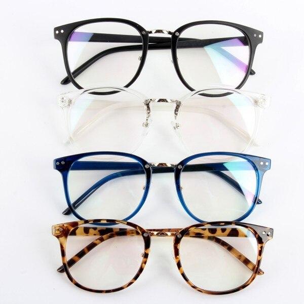 Şık Unisex gelgit optik gözlük yuvarlak çerçeve gözlük Metal ok UV400 Lens gözlük