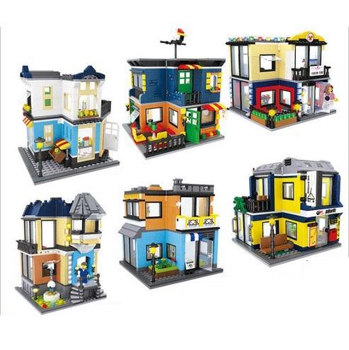 Hsanhe City Series Building Blocks street Store Architecture Pet ...