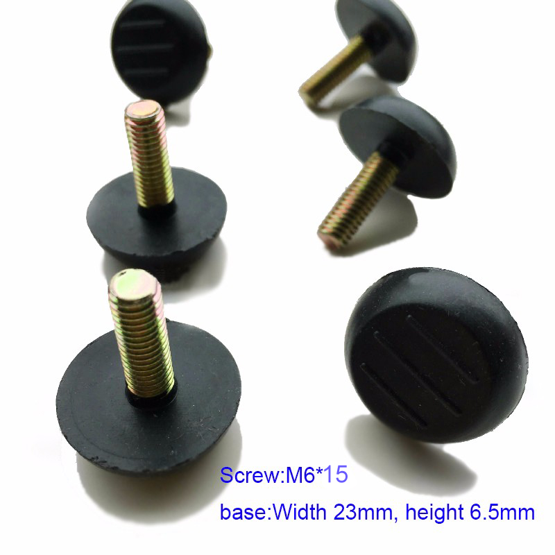 M6 Thread Screw Furniture Glide Leveling Foot Adjuster for Cabinet Table Leg x20