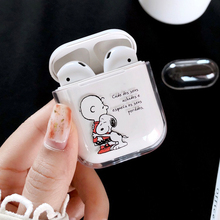цена на Transparent hard PC Cases For AirPods1 Case Cute Cartoon Pattern Protective Cover Bluetooth Wireless Earphone Case For Airpods 2