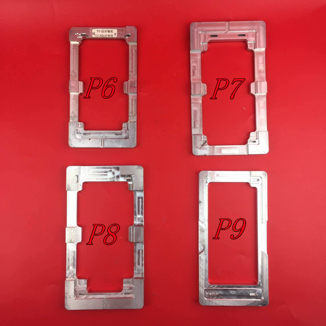 4PCS/LOT For Huawei P6 P7 P8 P9 Glueing LCD Outer Glass Mold Holder UV Glue Alignment Aluminum Mould