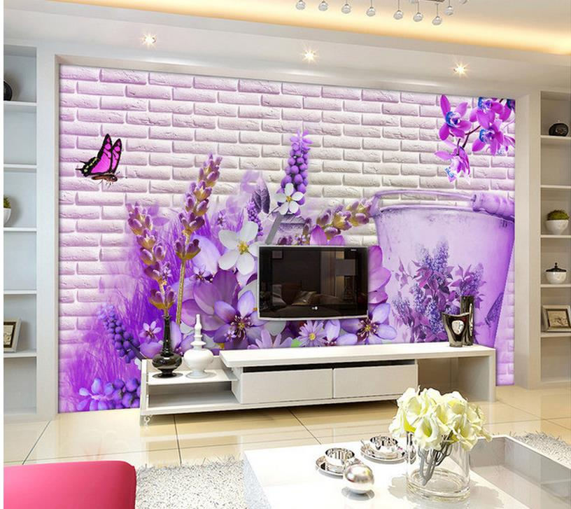 3d wallpaper for room home decoration garden wall flowers for 3d garden decoration