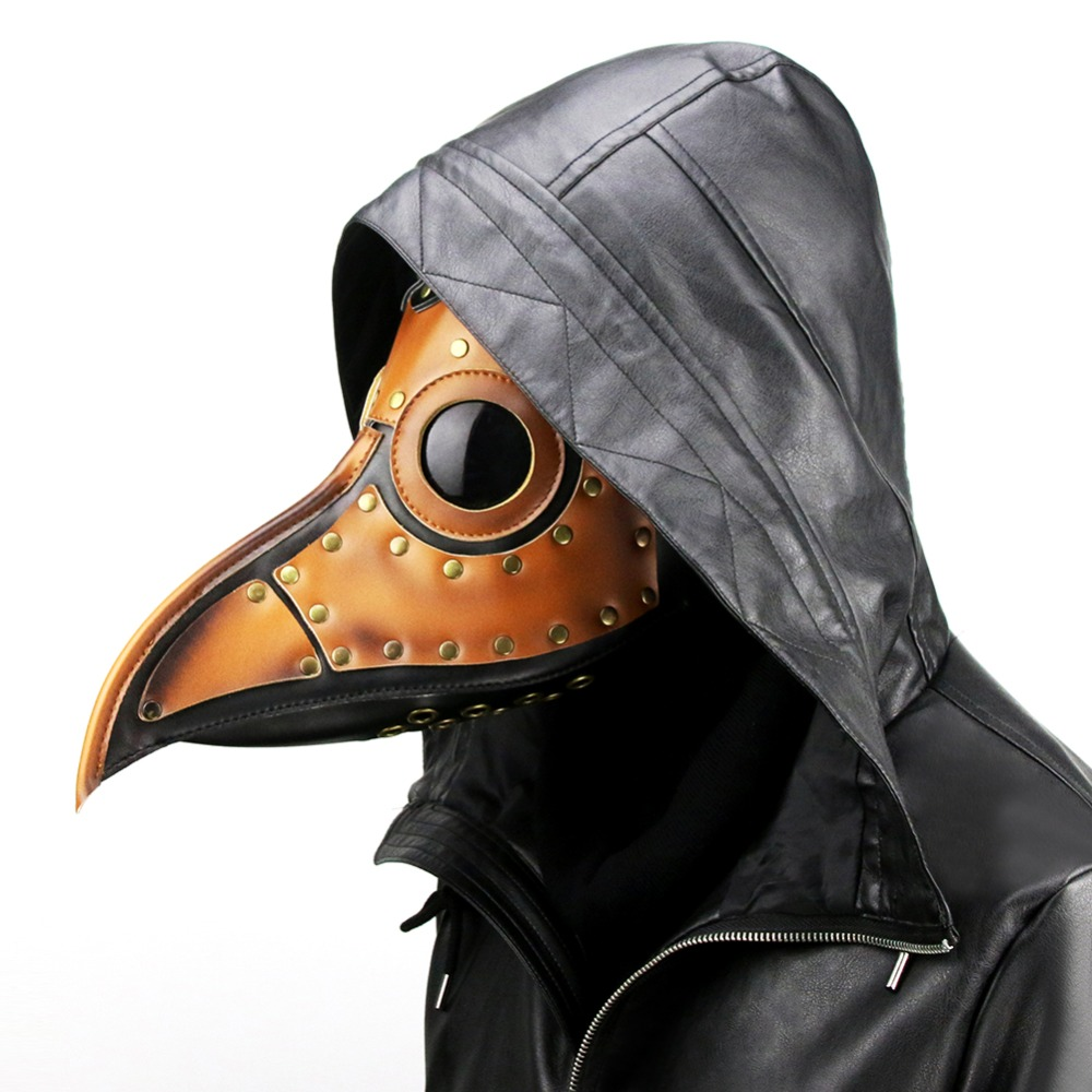 Pu Leather Steampunk Bird Beak Plague Doctor Cosplay Party Animal Masquerade Masks