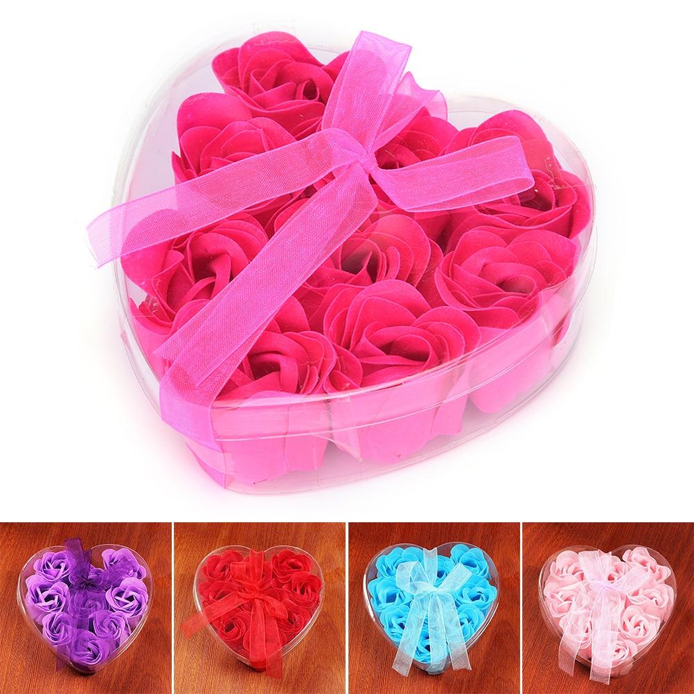 9Pcs Scented Bath Body Romantic Rose Soap Wedding Favor Shower Home ...