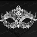 Luxury Silver,Black,Gold 3 Colors Elegant Metal Laser Cut Masks Venetian Halloween Ball Masquerade Mask Drop shipping