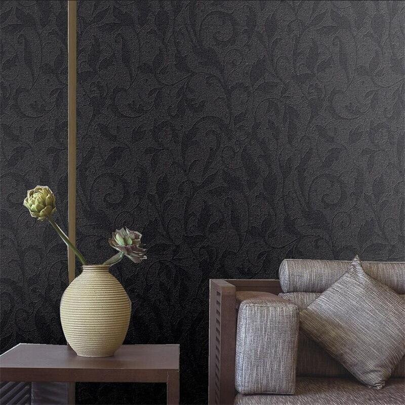 Beibehang Novo escuro preto cinza escuro padrão caixa de partição varanda estudo sala de estar fundo TV papel de parede papel de parede à prova d' água