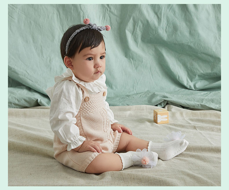 Новые детские носки для девочек детские свободные носки-тапочки детские носки принцессы с большим цветком