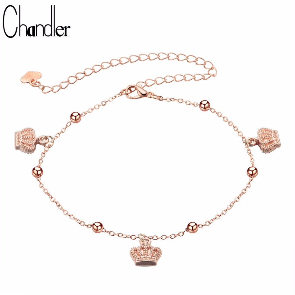 Jewelry & Accessories Jewelry Sets & More Qualified Chandler Crown Foot Bracelet Anklet Lover Barefoot Anklet Fashion Foot Chain Jewelry Bohemia Boho Fashion Rose Gold Ankle Bijoux