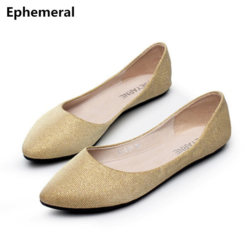 24aafa602552 Ladies Plus size (4-15) 2016 Fashion New Style Pointed toe Women Single  Casual Flats Shopping Dancing Kvoll shoes Zapatos Mujer