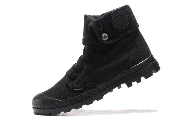 Pallabrouse Tobillo Los Paladio Hombres Lona 1 Zapatos Casuales Botas Alta De Negro Militar BffwdqY