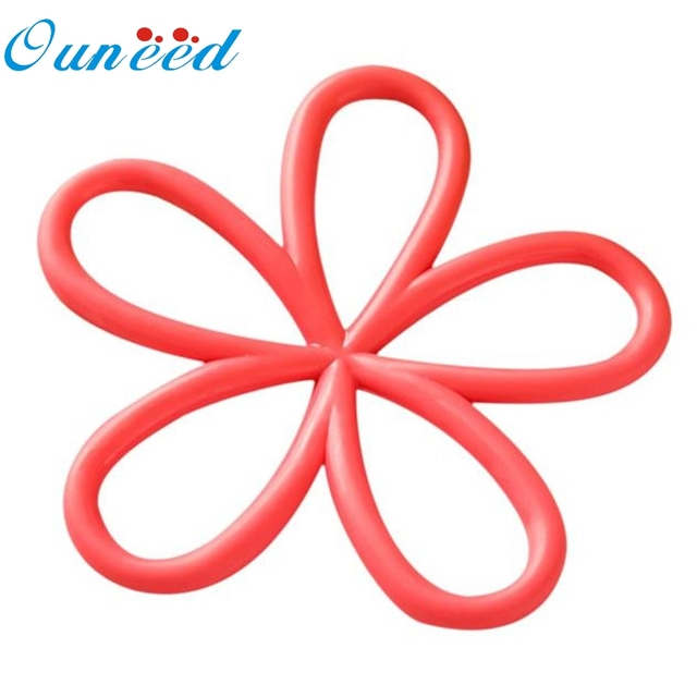 Ouneed Placemat Plum Shaped Table Mat Heat Pad Insulated Hot Pot Kitchen Placemats Quality First