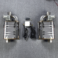 Double Valve Mufflers Electric Valve Muffler One Remoter Control Two Muffler Electric Exhaust Cutout Valve 63mm Sounds Mufflers