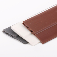 45x910mm Acoustic Silicon Rubber Door Bottom Sweep Threshold Seal With Cavity Chamber 3M Backing Soundproof Sealing