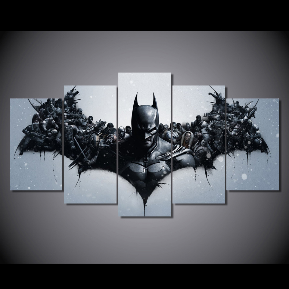 2017 New Sale Cuadros Decoracion Oil Painting Hd Movie Characters Batman Painting Canvas Print Room Decor Picture Free Shipping image