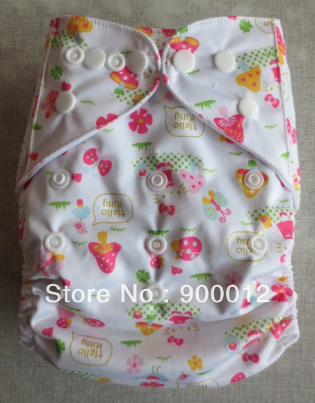 Free Shipping Sell New Prined Baby Infant Cloth Diaper pocket Reusuable Nappy one pockert nappies 75