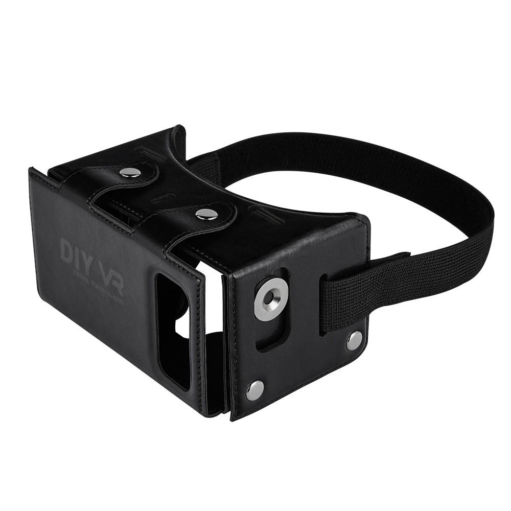 <font><b>DIY</b></font> VR 1.0 <font><b>Virtual</b></font> <font><b>Reality</b></font> <font><b>Glasses</b></font> <font><b>DIY</b></font> <font><b>PU</b></font> <font><b>Leather</b></font> Cardboard 3D VR Box <font><b>Glasses</b></font> <font><b>Headset</b></font> Universal for Android iOS Smart Phones