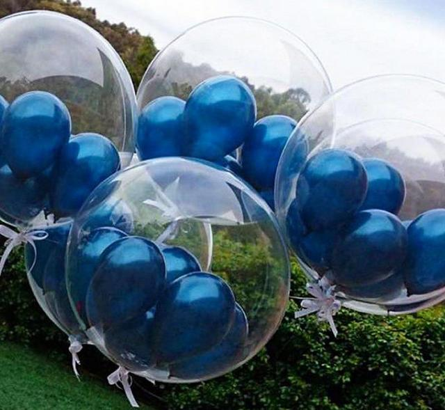 24 Inch Clear Foil Helium Air Balloons Creative Bobo